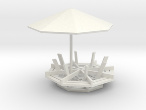 1/64 scale Picinic table in White Strong & Flexible