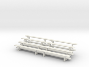 Printle Thing Bleachers - x 2 Horizontal - 1/24 in White Natural Versatile Plastic