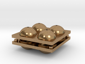 Sphere Mold Tray in Natural Brass