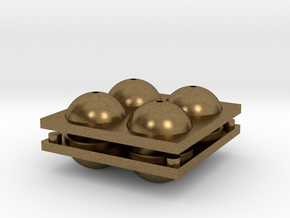 Sphere Mold Tray in Natural Bronze