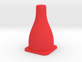 Tiny Traffic Cone in Red Processed Versatile Plastic