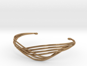 Cecilie Cuff Bracelet in Polished Brass
