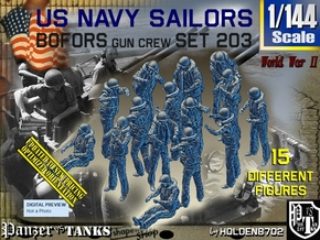 1/144 USN Bofors Set 203 in Smooth Fine Detail Plastic