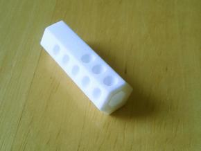 Long Dice in White Natural Versatile Plastic