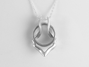Ring Holder Pendant: Gazelle in Polished Silver: Small