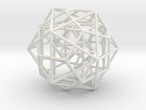 Nested Platonic Solids -Round Wires in White Premium Strong & Flexible