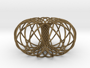 Torus of 2 sets of 12 circles in Natural Bronze