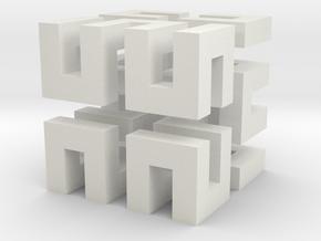 Hilbert cube ( pendant ) in White Premium Versatile Plastic