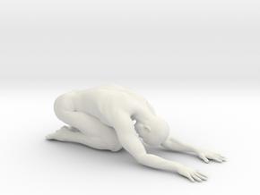 Male yoga pose 004 in White Natural Versatile Plastic: 1:10
