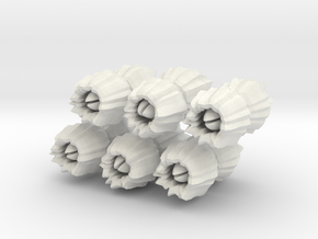 Barnacles, large, set of 12 in White Natural Versatile Plastic