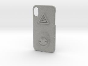 iPhone X Garmin Mount Case - Hill Climb in Metallic Plastic