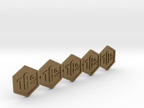 SOL Token 1AP, Set of 5 in Natural Bronze