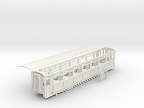 Ffestiniog Rly Superbarn all 3rd coach NO.119 in White Natural Versatile Plastic