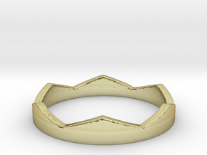 Petit Crown Ring Size 5 in 18k Gold Plated Brass