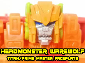 Headmonster Warewolf Face (Titans Return) in Smooth Fine Detail Plastic