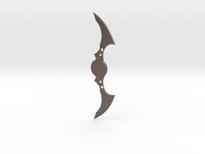 Batarang in Polished Bronzed Silver Steel
