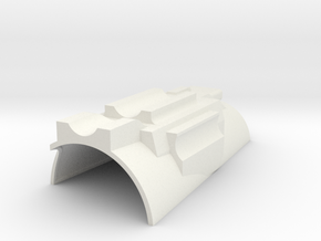 Modular Gauntlet System - Right Top in White Natural Versatile Plastic