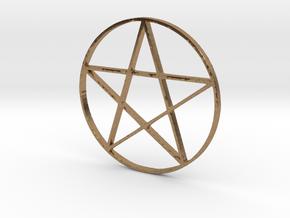 Large Pentagram (Pentacle) in Natural Brass