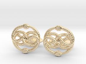AURYN Cufflinks in 14K Yellow Gold