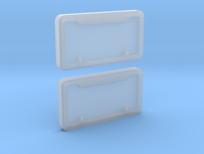 1/10 Scale License Plate Frames in Smooth Fine Detail Plastic