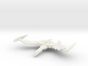 Romulan GreatBird Class  WarBird wings up in White Natural Versatile Plastic