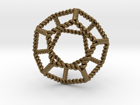 "Twisted Dodecahedron 2"" RH in Natural Bronze"