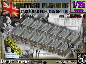 1/25 British Flimsies Can Set101 in Smooth Fine Detail Plastic