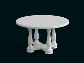 1:10 Scale Model - Table 02 in White Strong & Flexible