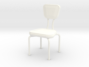 'Retro Living' Dining Chair 1:12 Dollhouse in White Processed Versatile Plastic