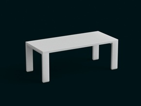 1:10 Scale Model - Table 04 in White Natural Versatile Plastic