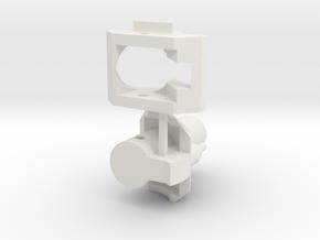 1/35 E-100 Maus II turret mantlet/trunnion in White Natural Versatile Plastic