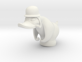 Angry Duck in White Natural Versatile Plastic