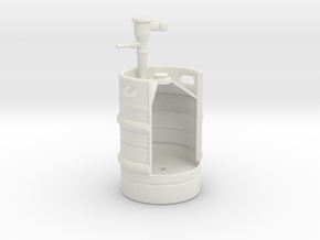 1/10 KEG Urinal in White Natural Versatile Plastic
