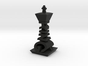 Modern Chess Set - KING in Black Natural Versatile Plastic