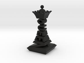Modern Chess Set - QUEEN in Black Natural Versatile Plastic