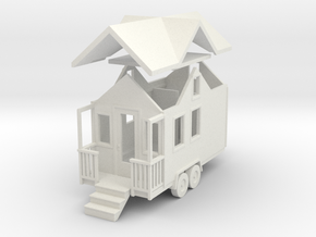 Tiny House #27 - 1:87 Scale Miniature in White Natural Versatile Plastic