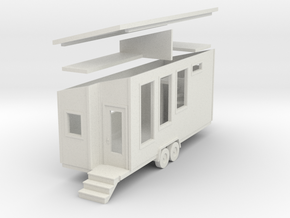 Tiny House #77 - 1:87 Scale Miniature in White Natural Versatile Plastic