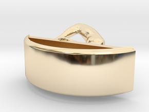 Yoga Jewelry earring 1 hoop in 14K Yellow Gold