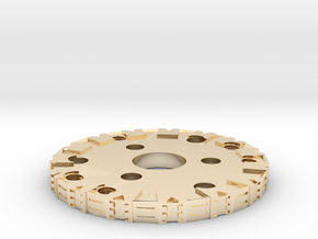 Detailed Chassis Disk in 14K Yellow Gold