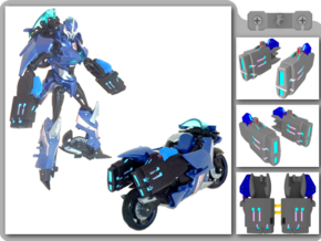 TFP Arcee Blasters in White Strong & Flexible