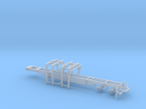 1/64th Pitts 4 bunk straight deck log trailer in Smooth Fine Detail Plastic