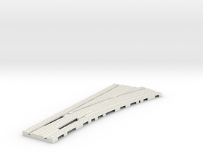 P-165stw-tram-point-RIGHT-100-w-live-9a OO gauge in White Natural Versatile Plastic