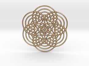 Merkaba Fractal Metatron Cube in Polished Gold Steel