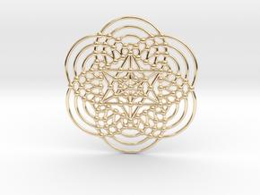 Merkaba Fractal Metatron Cube in 14K Yellow Gold