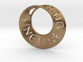 Sine Fine Mobius  in Natural Brass: Small