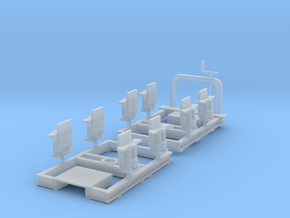 Ödeshög bogies 0e version in Smooth Fine Detail Plastic: 1:45
