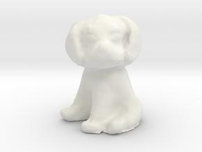 1/12 Puppy Sitting in White Natural Versatile Plastic