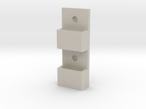 Wall-Mounted MOLLE/PALS Mounting System (1 x 2) in Natural Sandstone