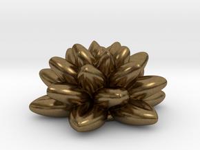 Fractal Flower 06 Redux in Natural Bronze