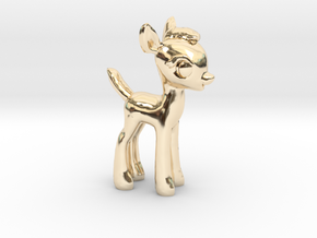"My Little OC: Faun 1.5"" in 14k Gold Plated Brass"